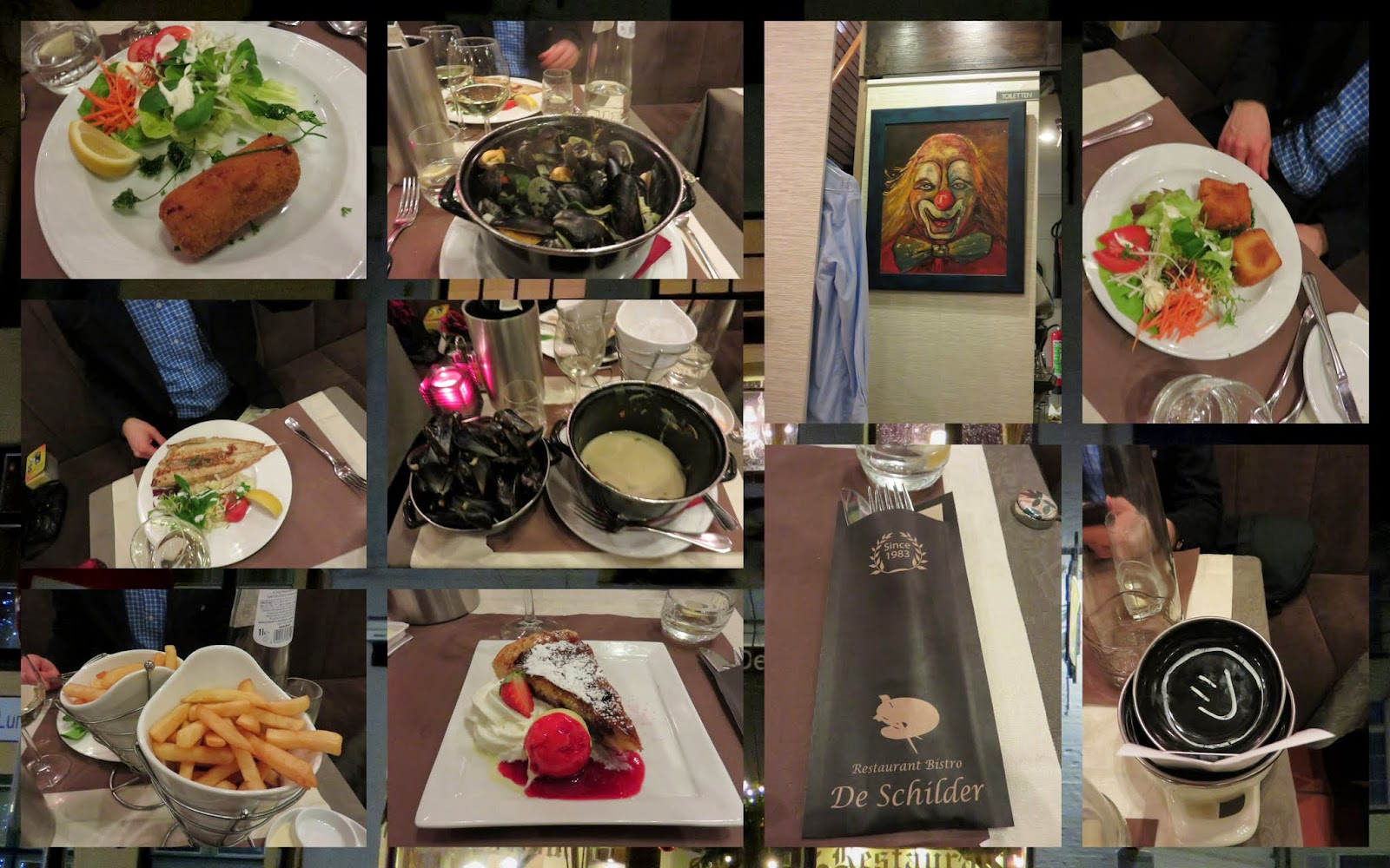 Christmas Dinner at Bistro de Schilder in Bruges, Belgium