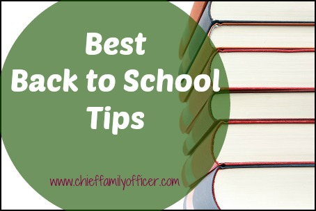 Back to School Tips | Chief Family Officer