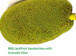 BBQ Jackfruit Sandwiches with Avocado Slaw