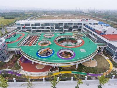 Kindergarten transformed by revolutionary elevated playground