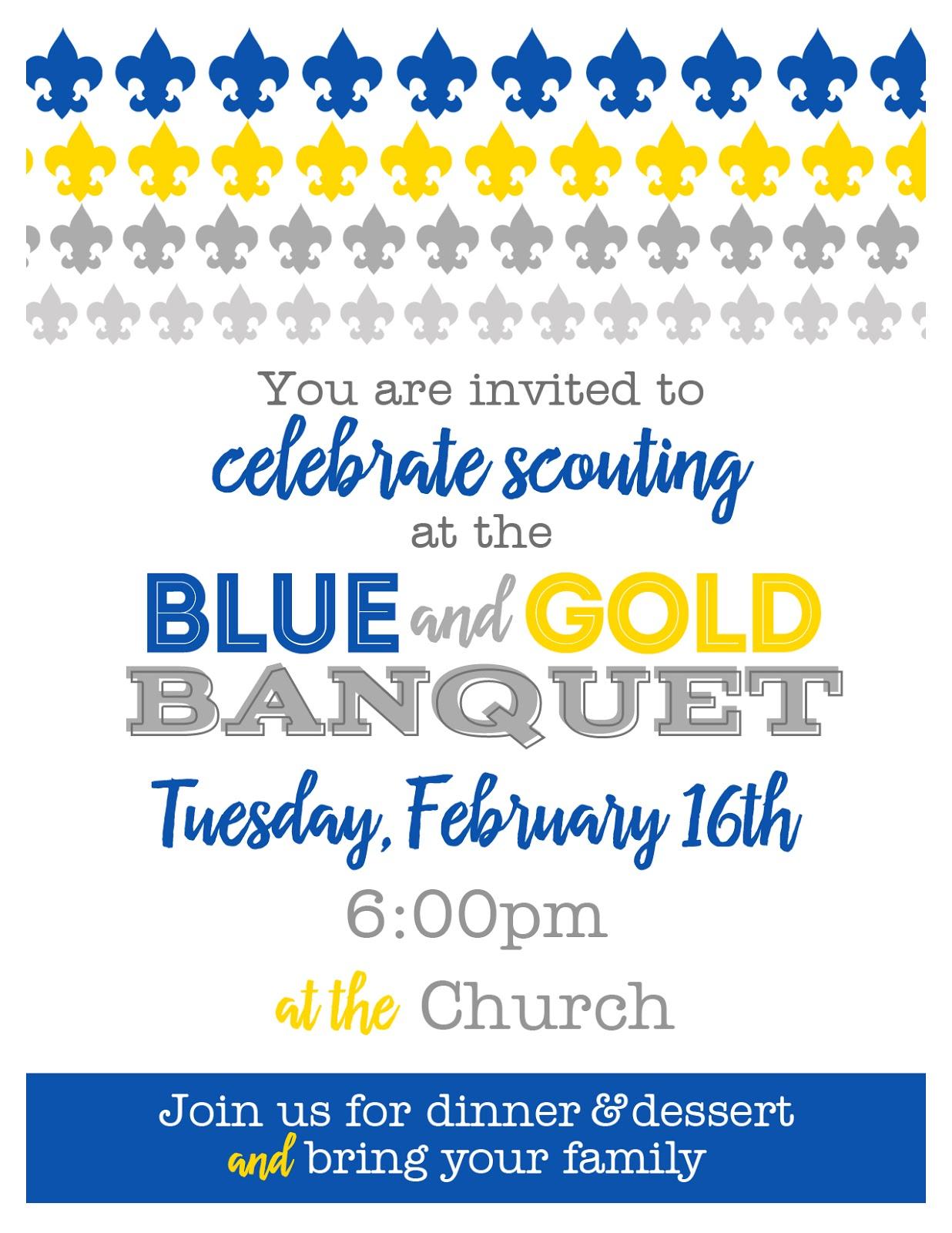 Kelli Nicholls Designs Cub Scout Blue And Gold Banquet Invitation