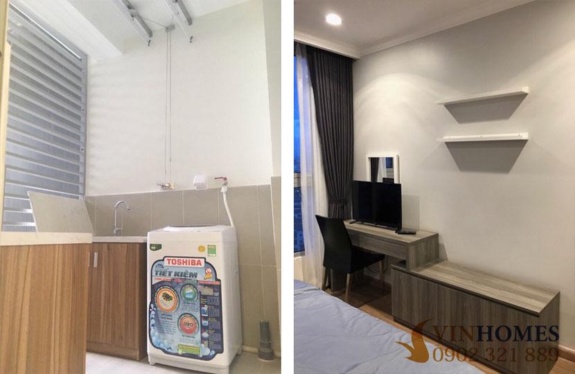 Landmark 1 - Vinhomes cho thuê 3 phòng ngủ full nội thất bao phí | máy giặt và tivi