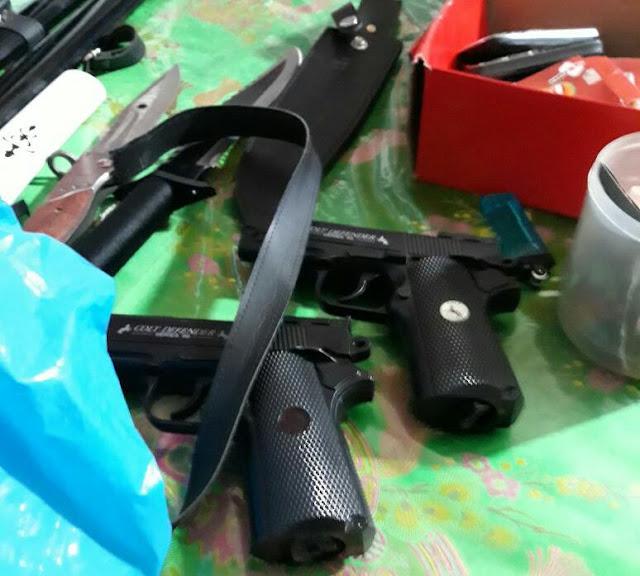 Senpi milik terduga teroris di Tanjungbalai yang disita petugas.