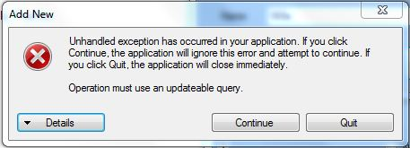 Operation must use an updateable query access error solve fix