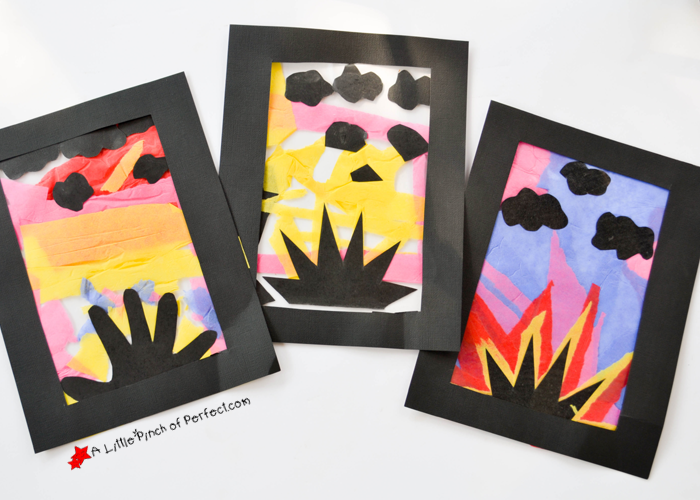 Glowing Sunset Tissue Paper Craft For Kids