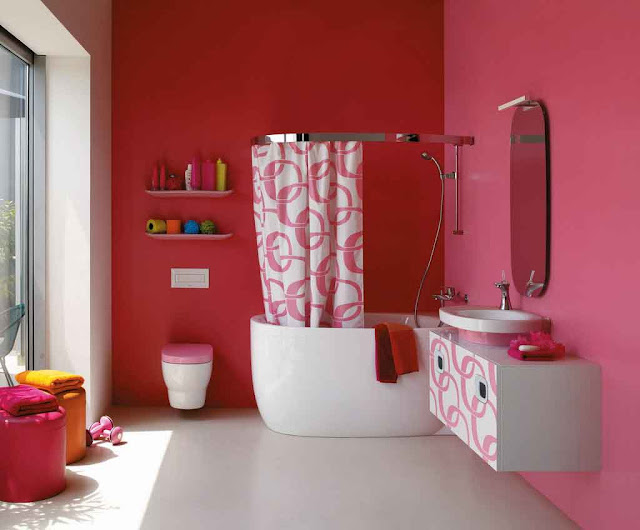 Awesome Design Colour Pink Tile Bathroom Decorating Ideas For Your Home Images