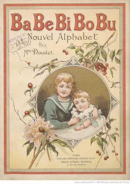 Image ancienne, apprendre l'alphabet