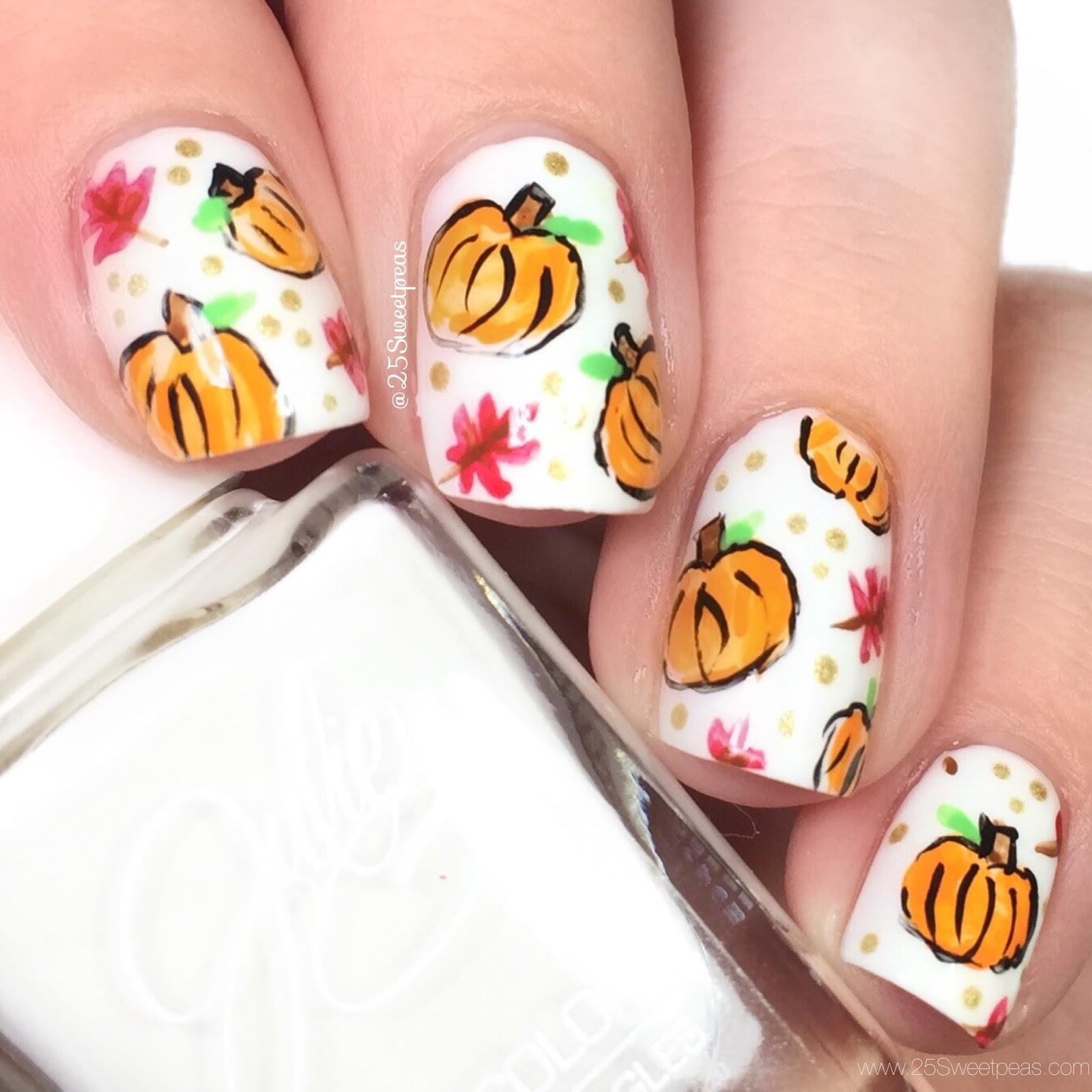 Pumpkin Nail Art