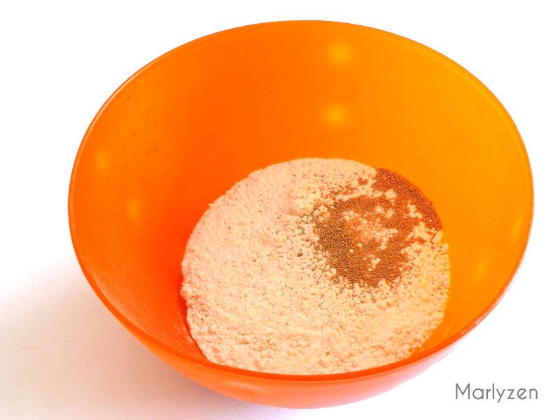Mélangez la farine, le sel et les levures.