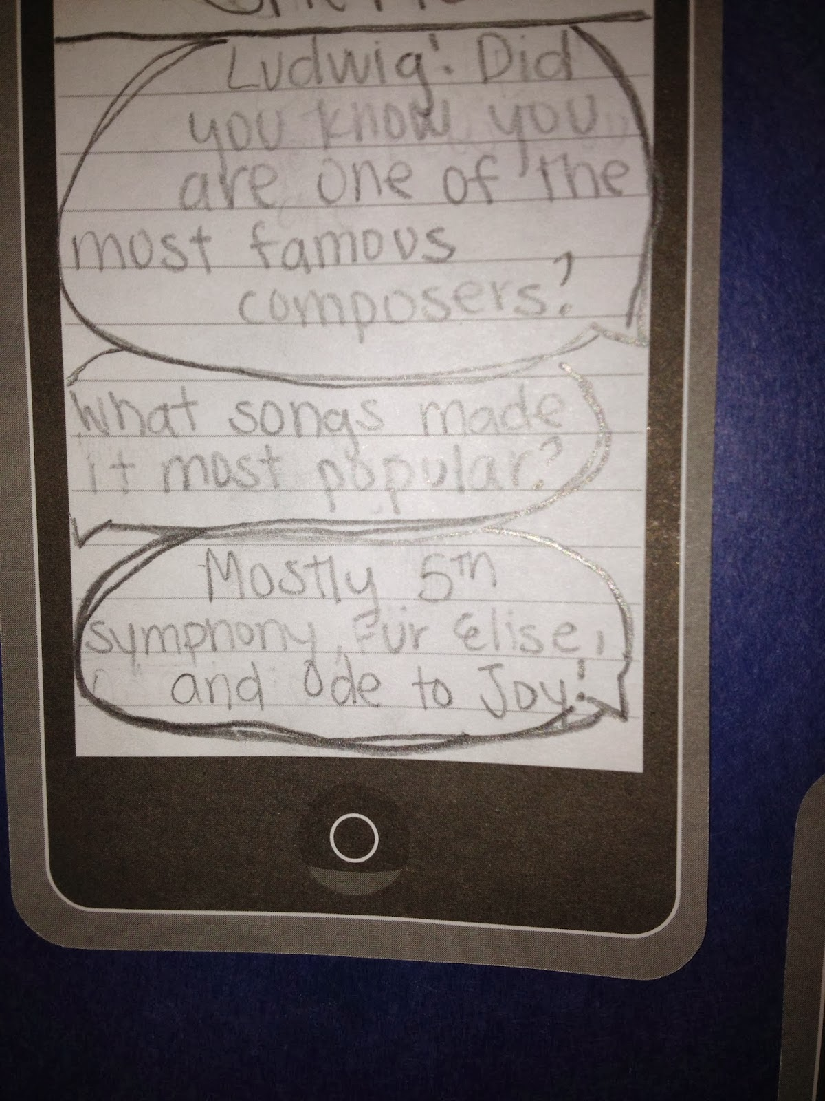 Texting Beethoven Lesson Post it