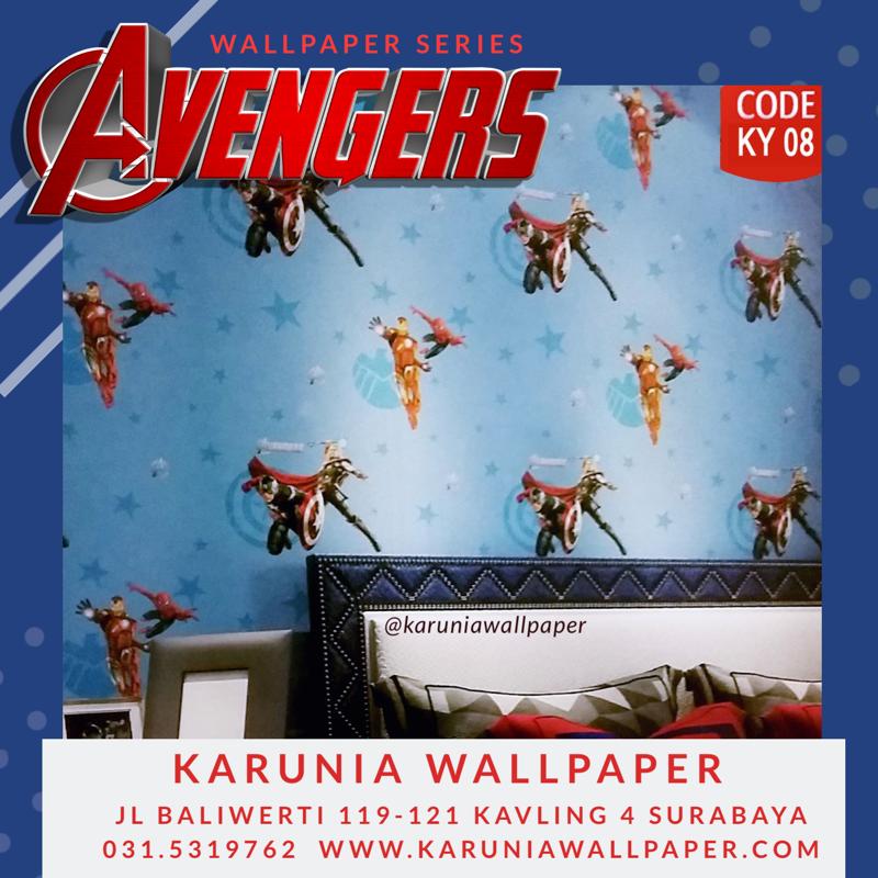 jual wallpaper dinding avengers superhero
