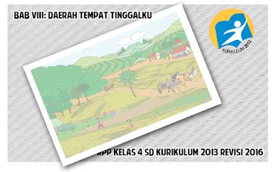 Download RPP Kelas 4 SD Tema Daerah Tempat Tinggalku Kurikulum 2013 Revisi 2016