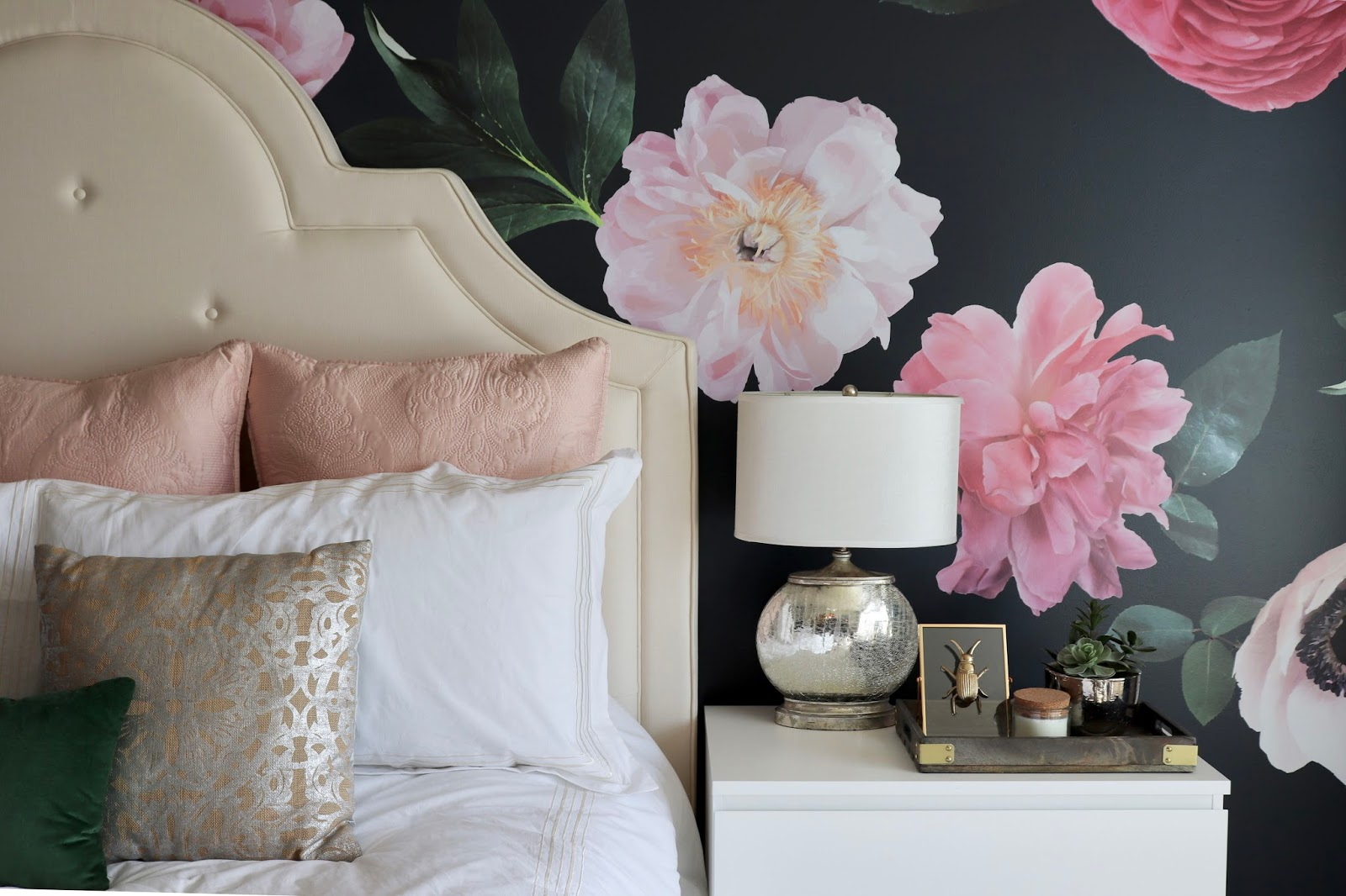 restlessrisa: Floral Wall Decals, and Master Bedroom Facelift
