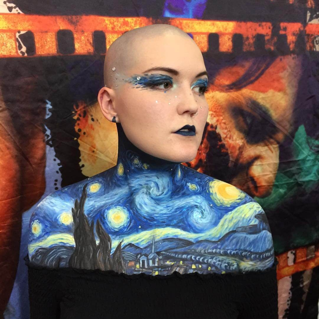 04-The-Starry-Night-Georgina-Ryland-Mehron-Makeup-Body-Painting-www-designstack-co