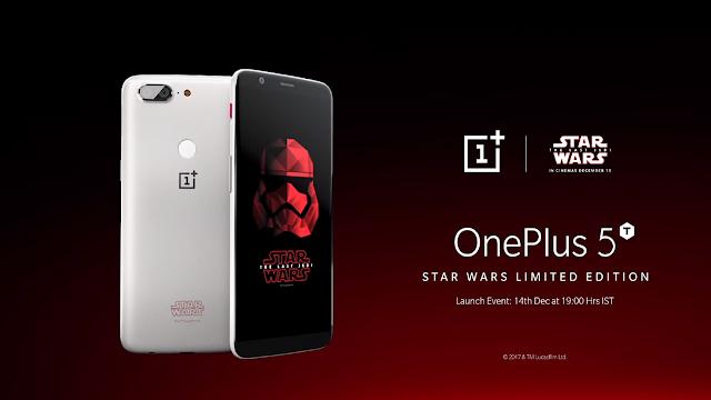 OnePlus 5T ediție limitată Star Wars va fi disponibil de pe 15 decembrie