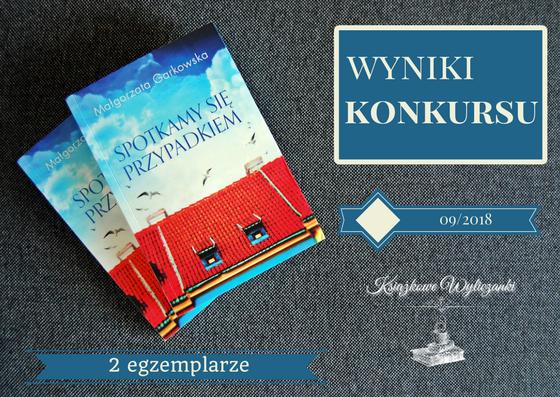 """WYNIKI KONKURSU PATRONACKIEGO """"Spotkamy się przypadkiem"""" Małgorzata Garkowska"""