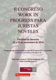 II Congreso Work In Progress para Juristas Noveles.