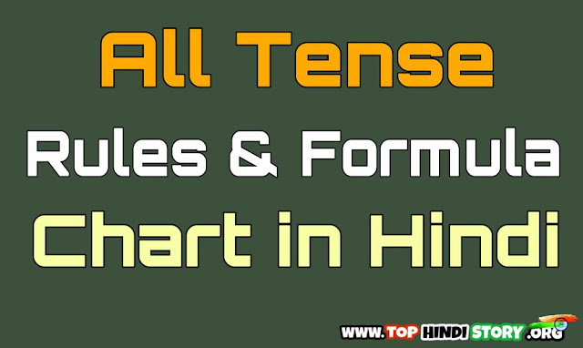 Tense Rules Formula Chart
