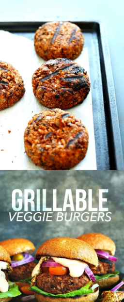 EASY GRILLABLE VEGGIE BURGERS