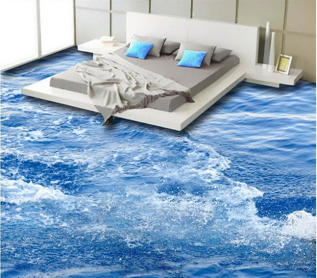 resin 3D floor designs for bedroom flooring