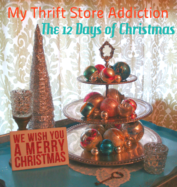 my thrift store addiction the twelve days of christmas. Black Bedroom Furniture Sets. Home Design Ideas