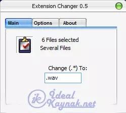 Extension Changer ile uzantı değiştirme