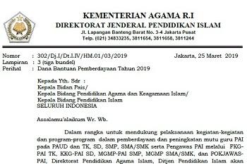 Download Juknis Surat Dana Bantuan Pemberdayaan Tahun 2019 Pdf