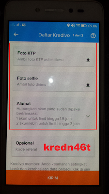 upload ktp di aplikasi kredivo android