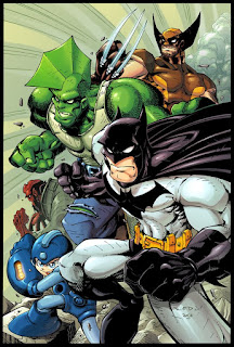 Batman, Savage Dragon, Wolverine, Mega Man, Hellboy