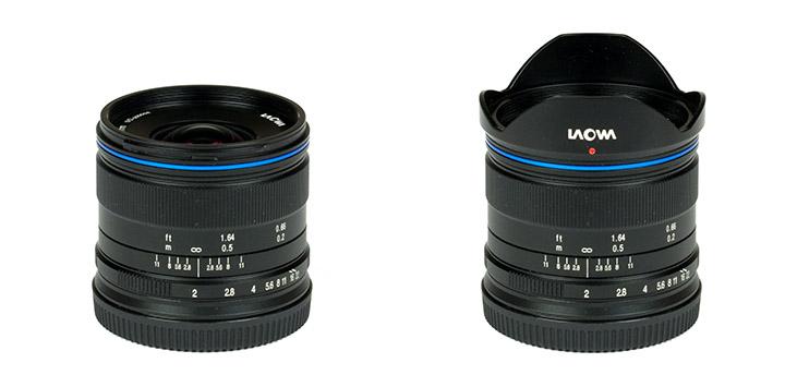 Laowa 7.5mm f/2 с блендой и без