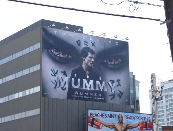 Mummy movie reboot billboard