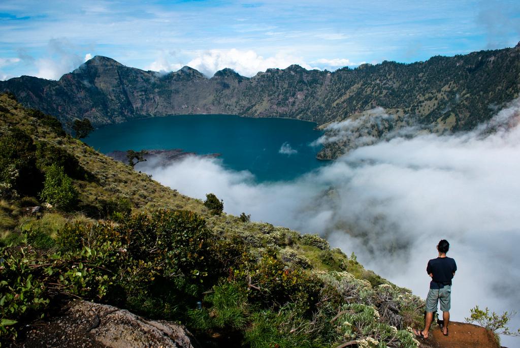 Beautiful at Plawangan Sembalun an altitude 2639 meter of Mount Rinjani