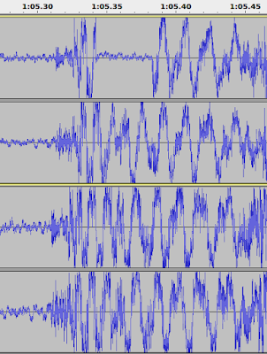 "Audacity output comparing the CD and MP3 versions of ""Off to See the World"""