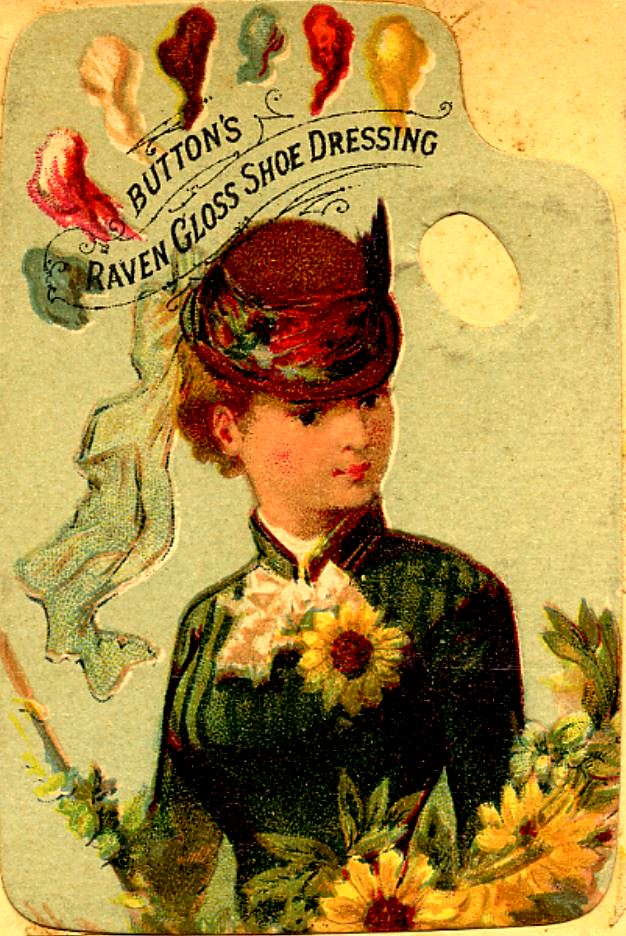 woman looking down left in red hat wearing green dress with sunflower corsage