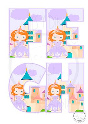 Abecedario de princesa sofia para imprimir