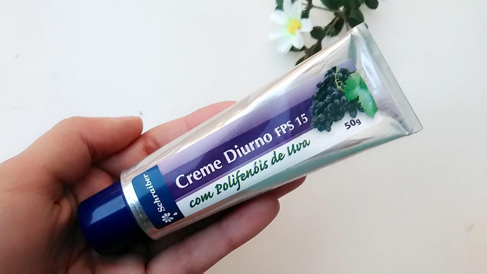 Creme Facial Diurno FPS 15 com Polifenóis de Uva Schraiber