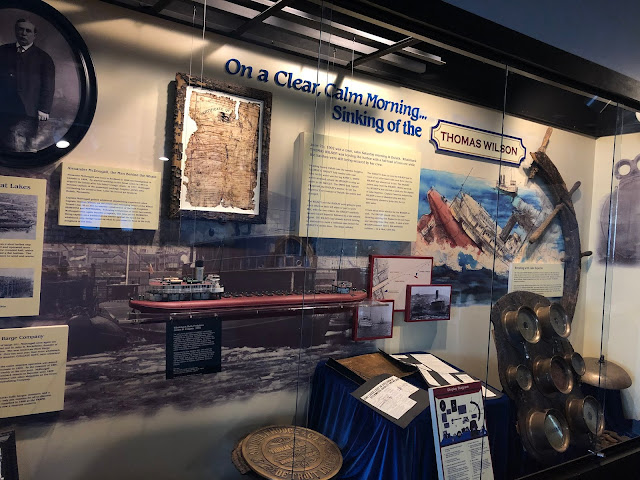 Shipwreck of the USS Thomas Wilson display with artifacts at the  Lake Superior Maritime Visitor Center in Duluth, Minnesota
