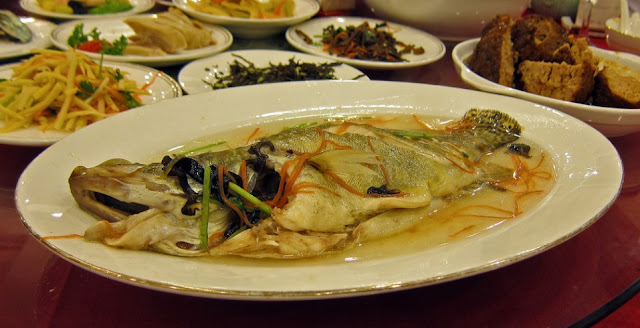 Tea Steamed fish