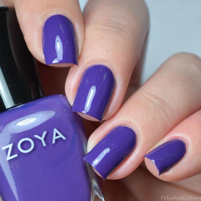 grape purple creme nail polish