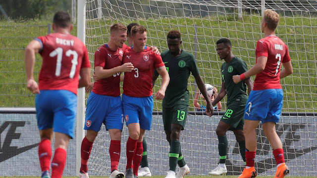Nigeria lost 1-0 to Czech republic in a World cup warm-up friendly