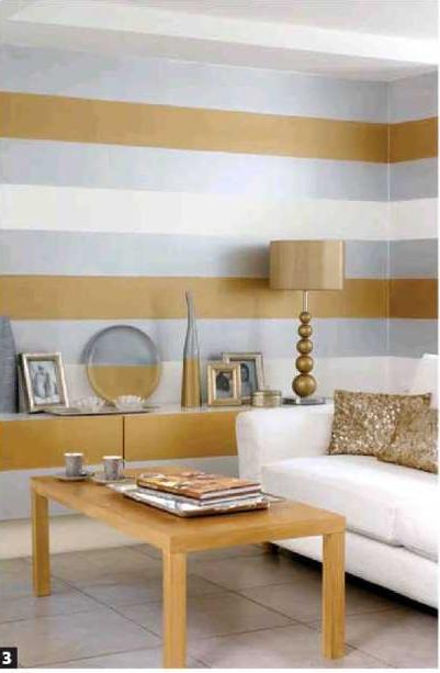 Hogar 10 pintar paredes de rayas hazlo tu mismo - Paredes pintadas con rayas ...