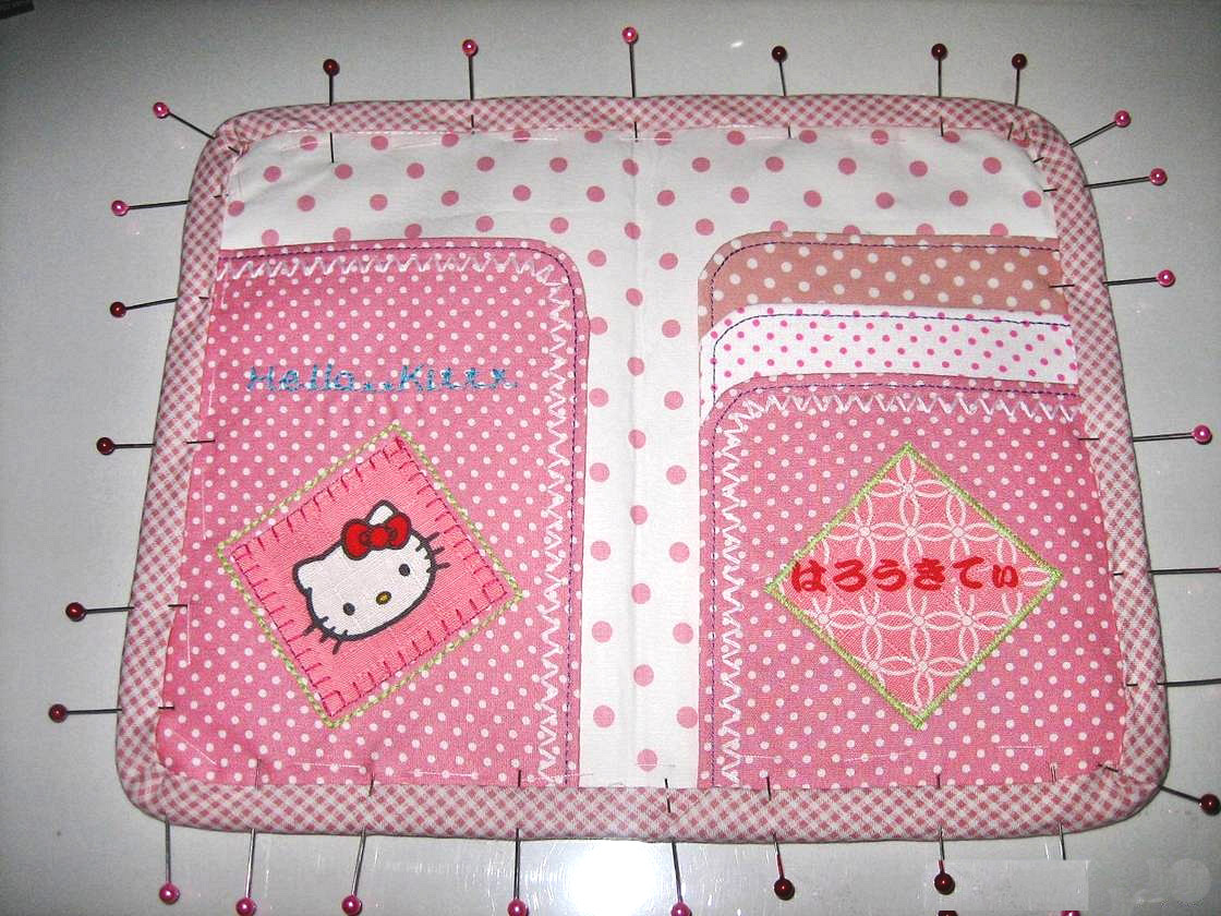 Pink Hello Kitty Wallet / Clutch. Step by step photo DIY tutorial.