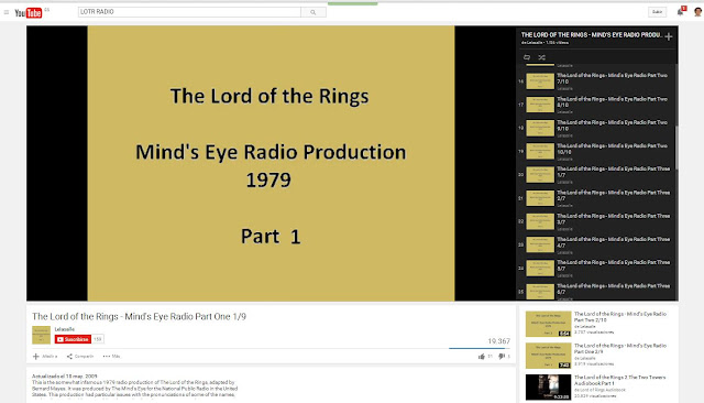 The Lord of the Rings - BBC Radio (y Mind's Eye Radio) - Grabación de El Señor de los Anillos oara Mind's Eye Radio - USA - Youtube - ÁlvaroGP - el troblogdita - Radio - Social Media
