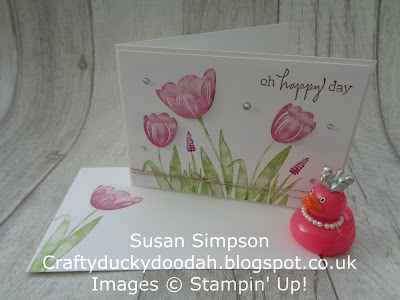 #stampinuk, Coffee & Cards project April 2018, Craftyduckydah!, Stampin' Up! UK Independent  Demonstrator Susan Simpson, Supplies available 24/7 from my online store, Tranquil Tulips,