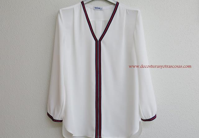 proceso de confección blusa blanca