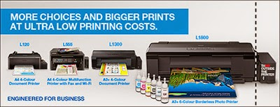 Epson L1800 A3 Printer Price in Malaysia - Driver and Resetter for