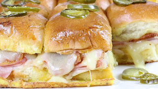 Bacon Monte Cristo Sliders