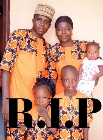 Photo: Man, wife and three children burnt to death in fire incident in Kebbi