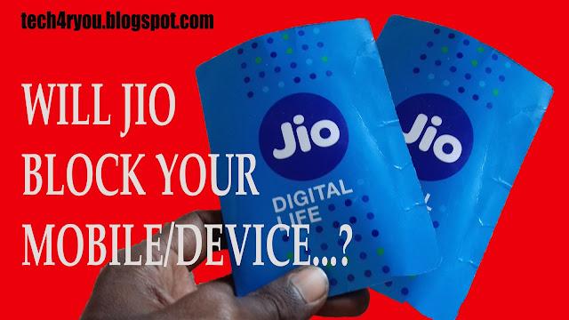 Reliance jio block mobiles.?