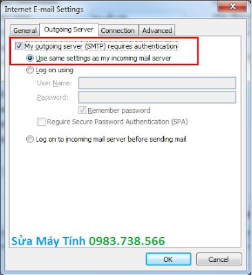 Cài Outlook cho Gmail - H08